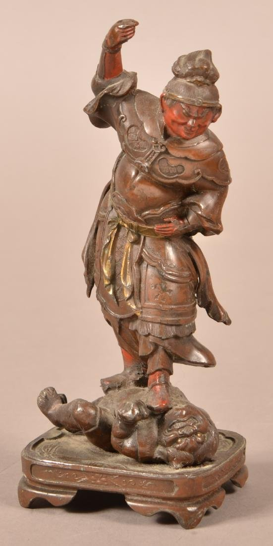 Vintage Japanese Bronze Figure of a Takeshi.