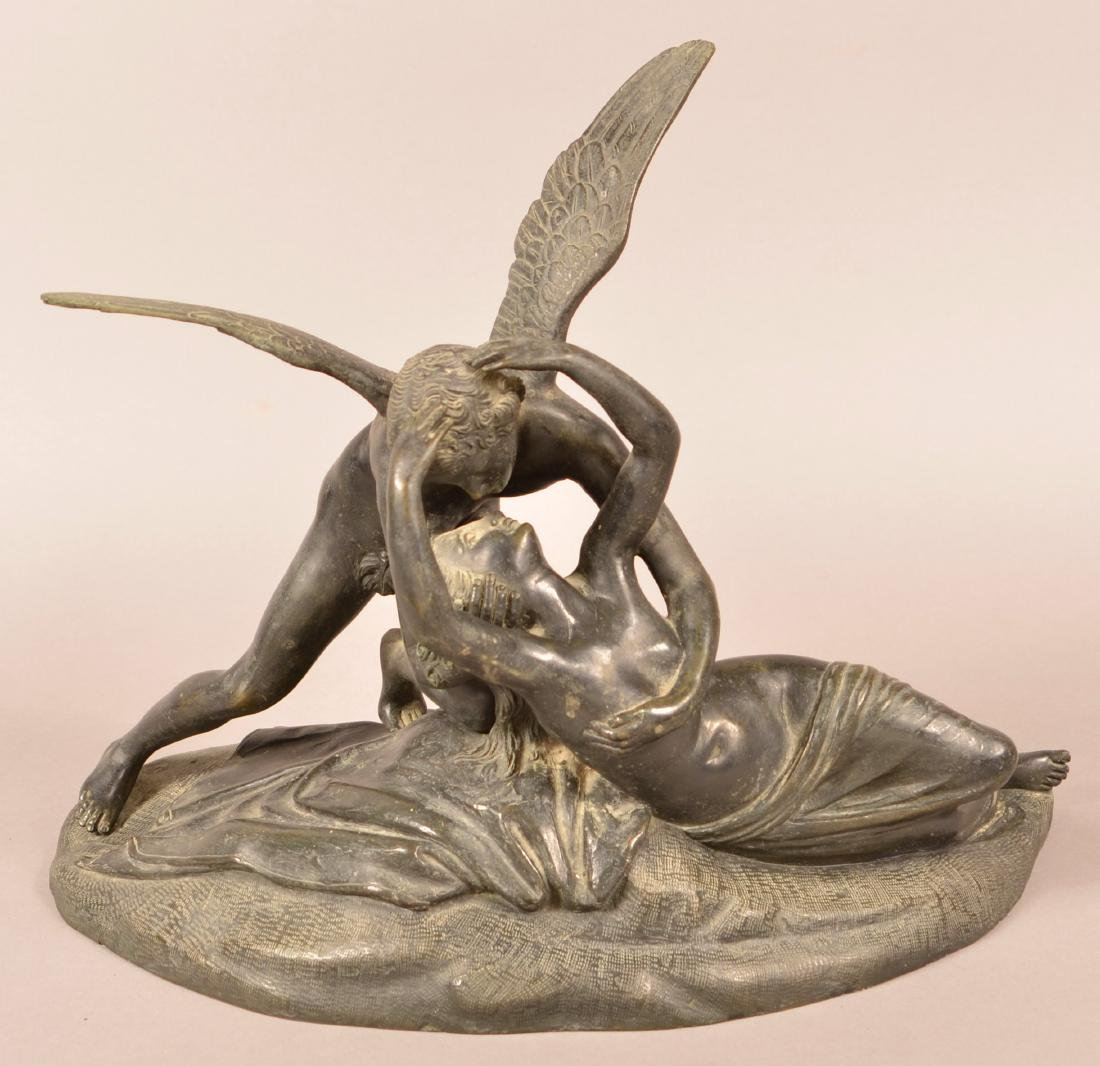 Antique Bronze Figural Sculpture.