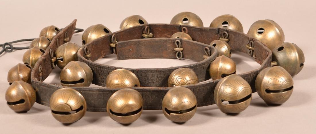 String of 23 Antique Brass Sleigh Bells.