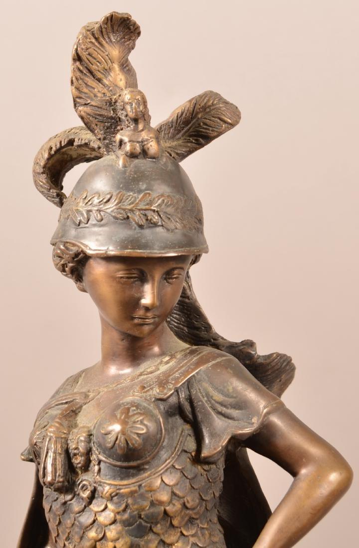 Antique Bronze Figural Sculpture of Athena. - 2