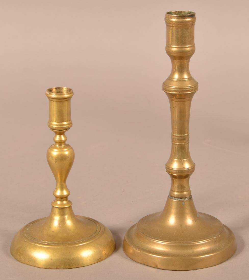 Two 18th/19th Century Brass Candlesticks.