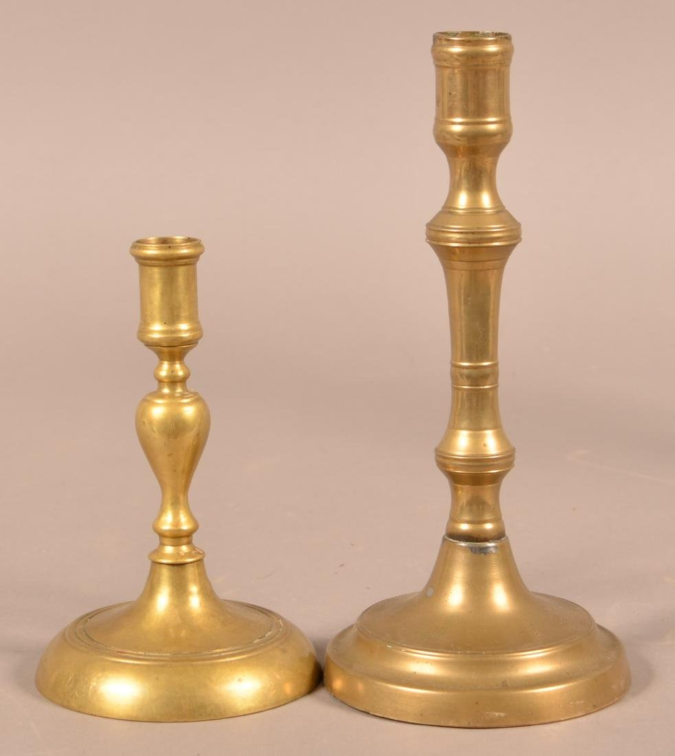 Two 18th/19th Century Brass Candlesticks. - 2