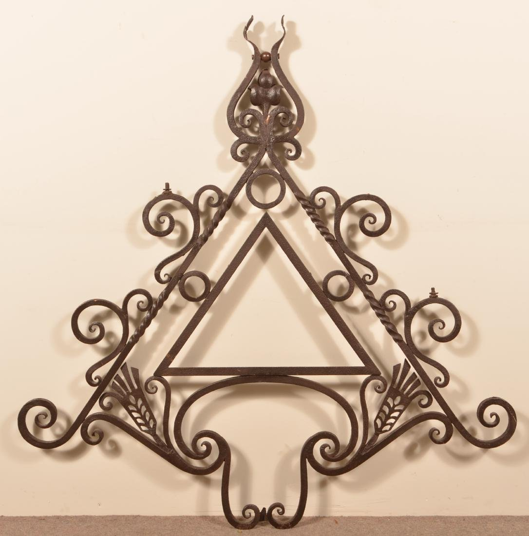 Antique Wrought Iron Sign Bracket.