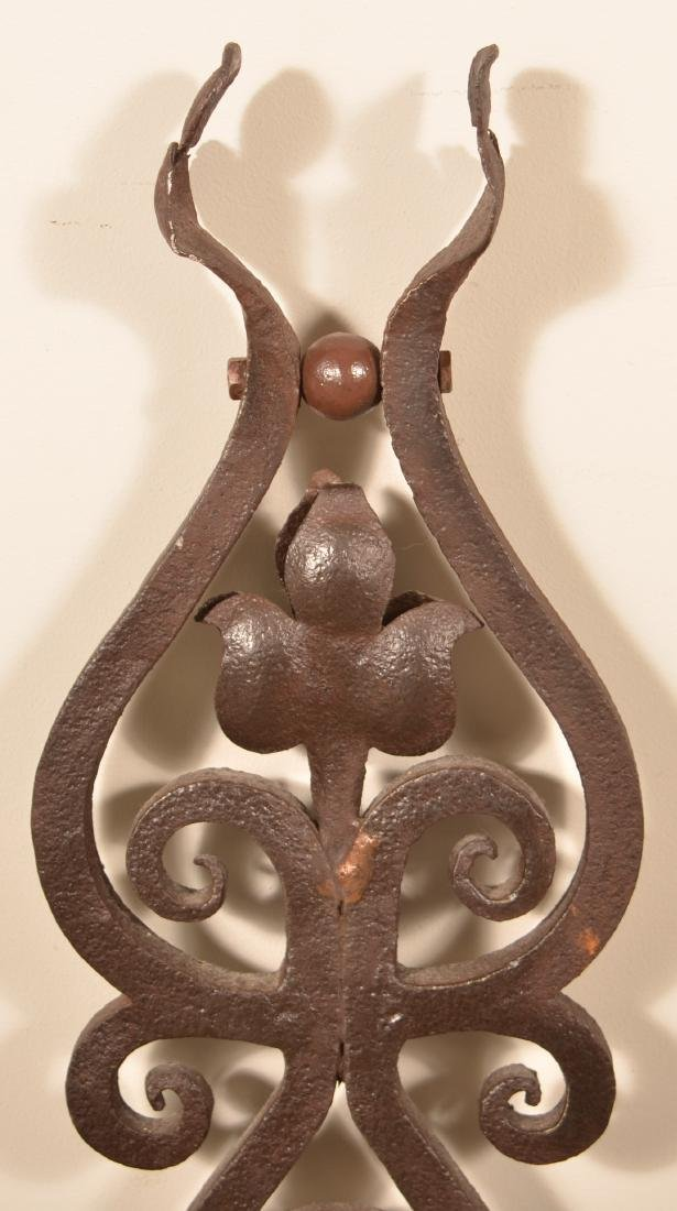 Antique Wrought Iron Sign Bracket. - 3