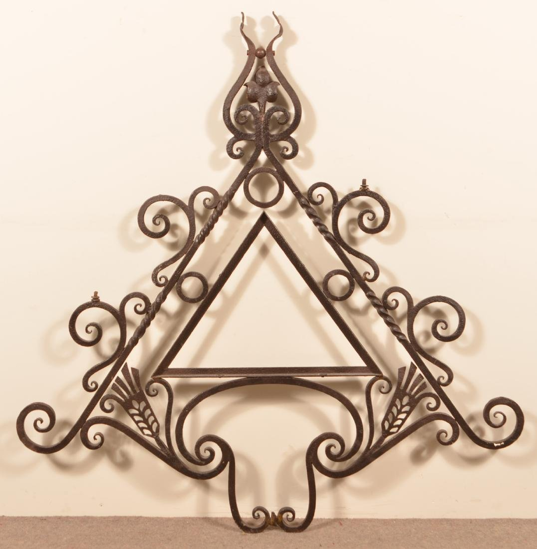 Antique Wrought Iron Sign Bracket. - 4
