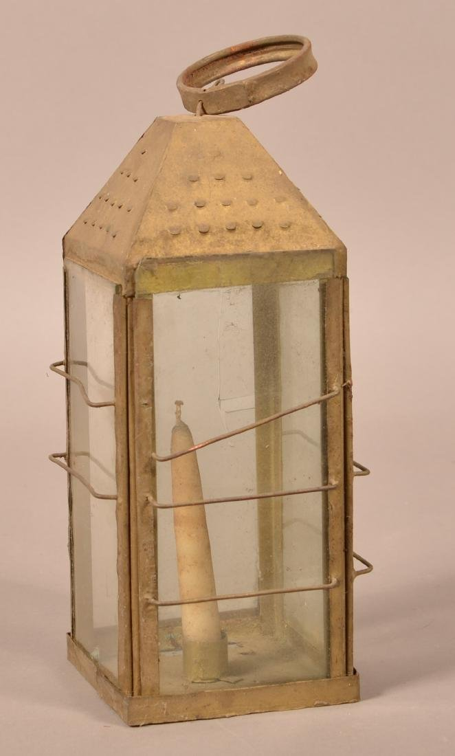 Antique Tin Candle Lantern.