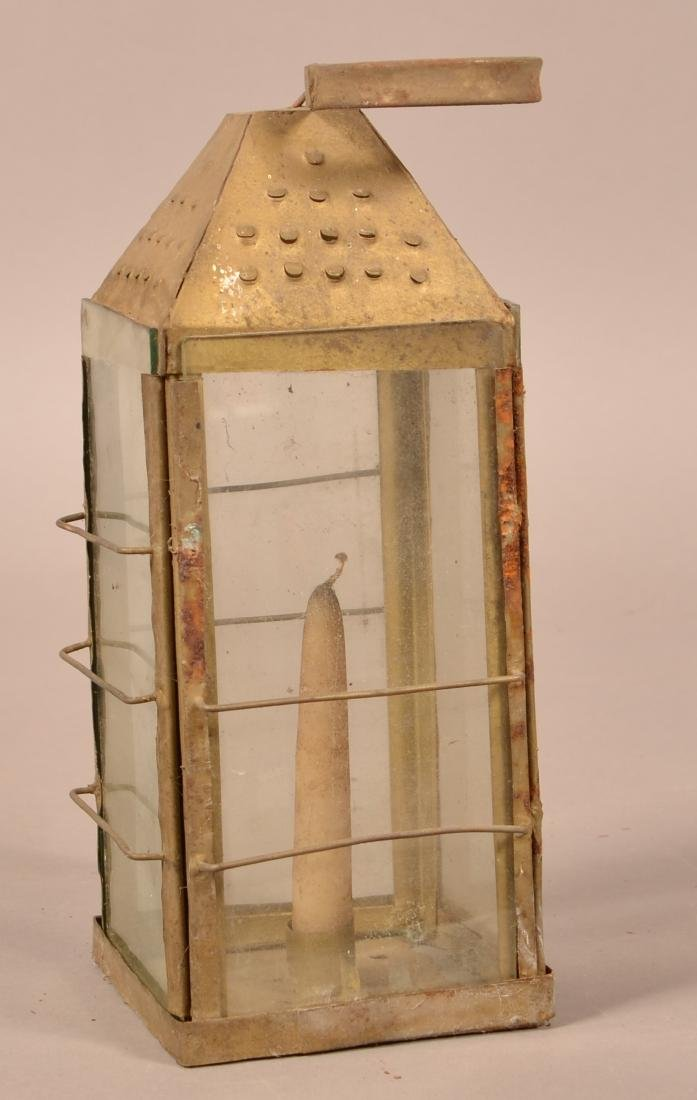 Antique Tin Candle Lantern. - 2