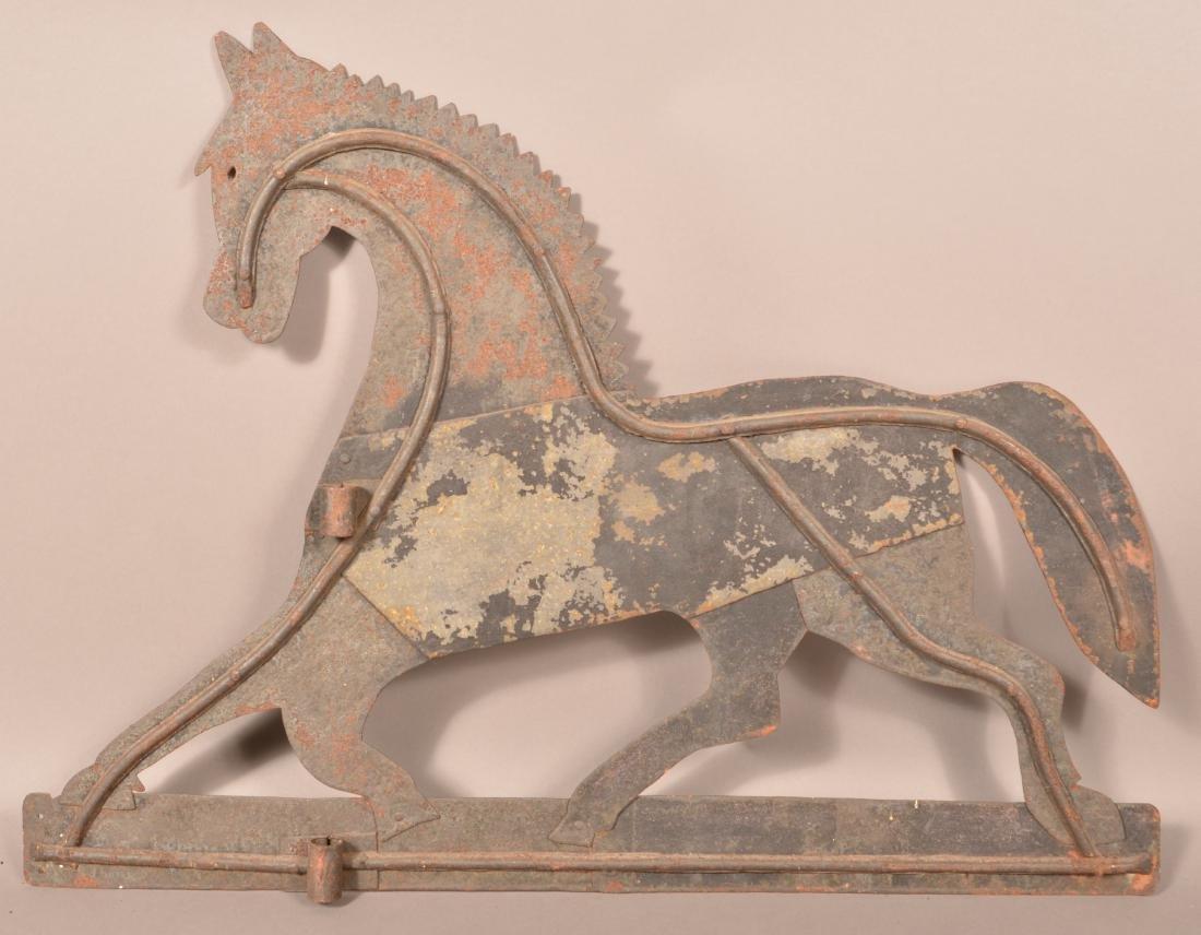 Sheet Metal Horse Weathervane. - 2