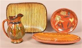 Four Pieces of Contemporary Folk Art Pottery. I