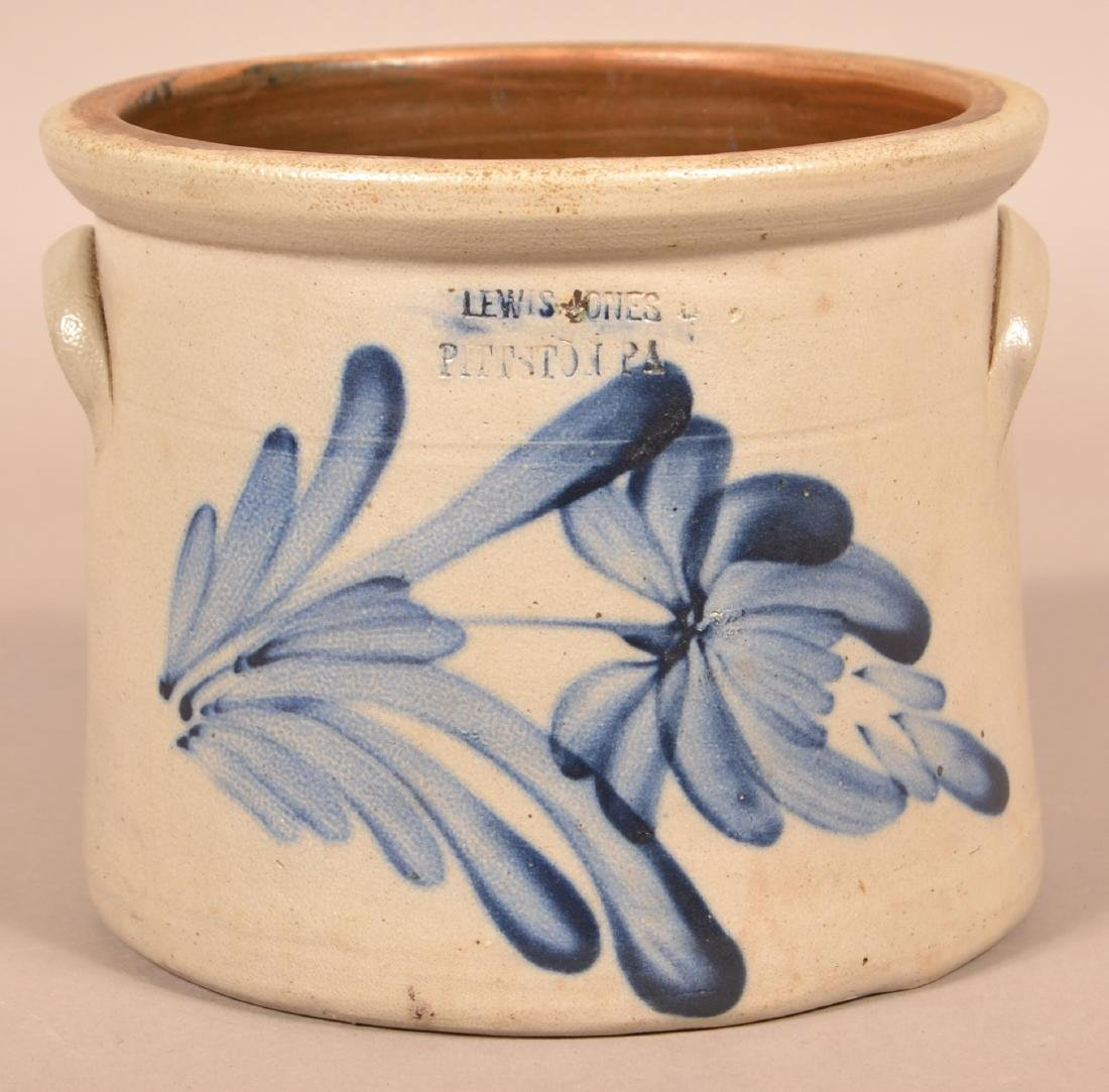 Lewis Jones, Pittston, PA One Gallon Stoneware Crock.
