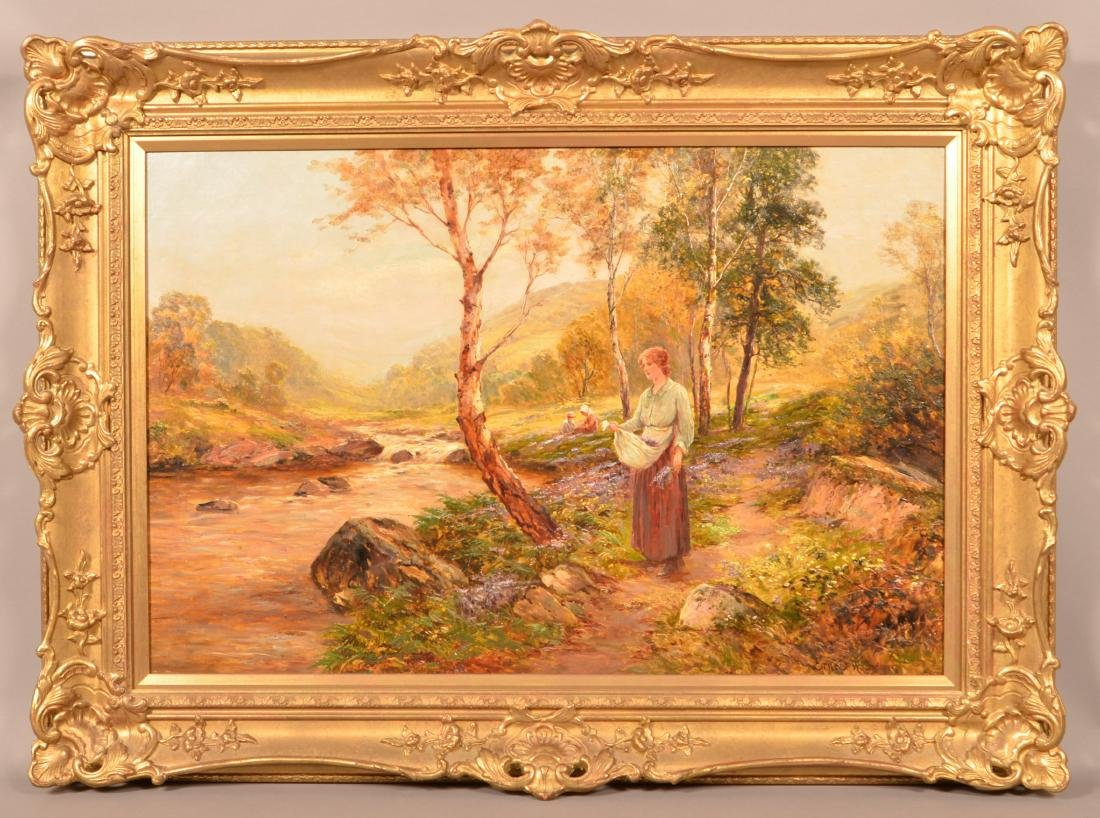 Ernest Walbourn  Oil On Canvas Landscape Painting.