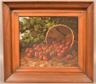 Oil on Canvas Still Life Signed J.W. Reed 1915.