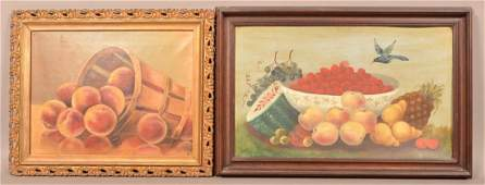 Two Antique/Vintage Fruit Framed Still Life Paintings.