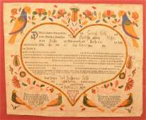 Berks County Birth and Baptismal Certificate Dated