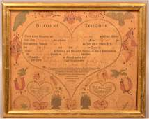 1809 Northampton County Birth & Baptismal Certificate