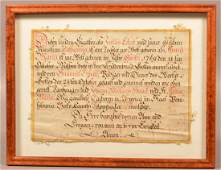 Berks County Birth Record and Religious Text Dated 1769