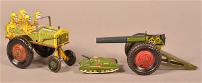 Marx Jumpin Jeep Tin Lithograph Windup Toy