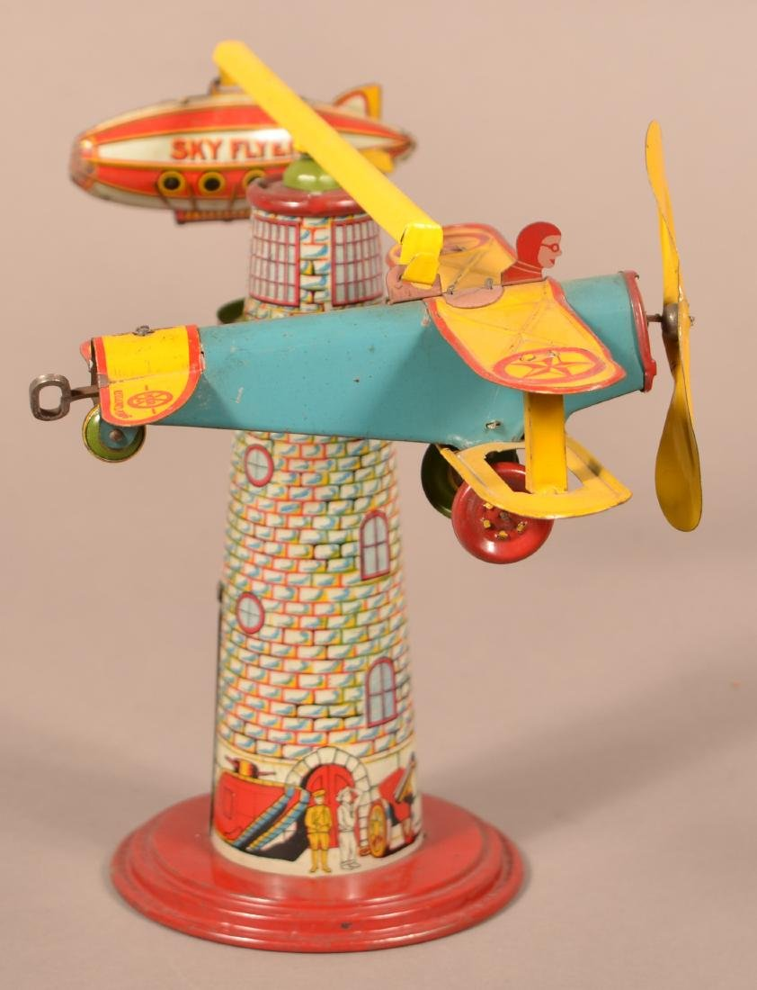 """Marx """"Sky Flyer"""" Tin Lithograph Wind-up Toy."""