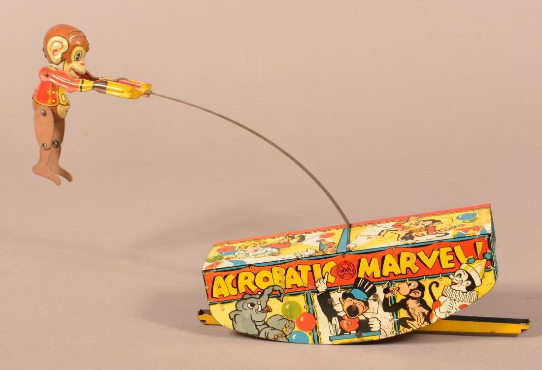 """Marx """"Acrobatic Marvel"""" Tin Lithograph Wind-up Toy."""