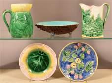 Five Pieces of Majolica Pottery.