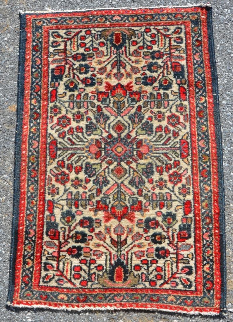 Antique/Vintage Floral Pattern Oriental Area Rug.