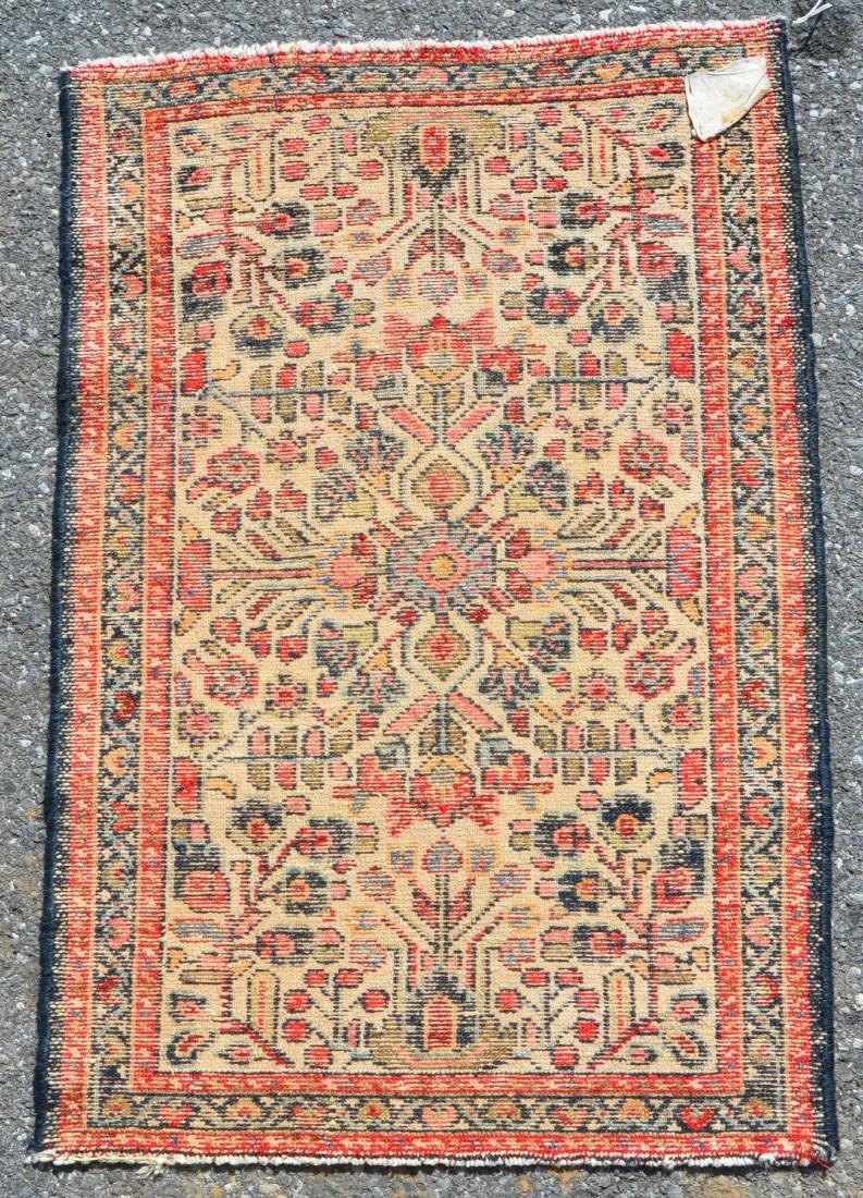 Antique/Vintage Floral Pattern Oriental Area Rug. - 3