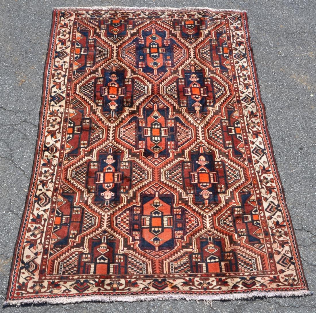 Antique/Vintage Sarouk Pattern Room Size Oriental Rug.