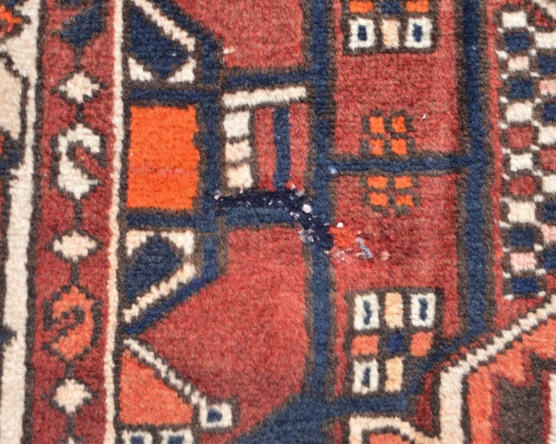 Antique/Vintage Sarouk Pattern Room Size Oriental Rug. - 3