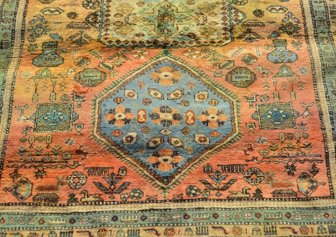 Antique/Vintage Geometric Pattern Oriental Area Rug. - 2