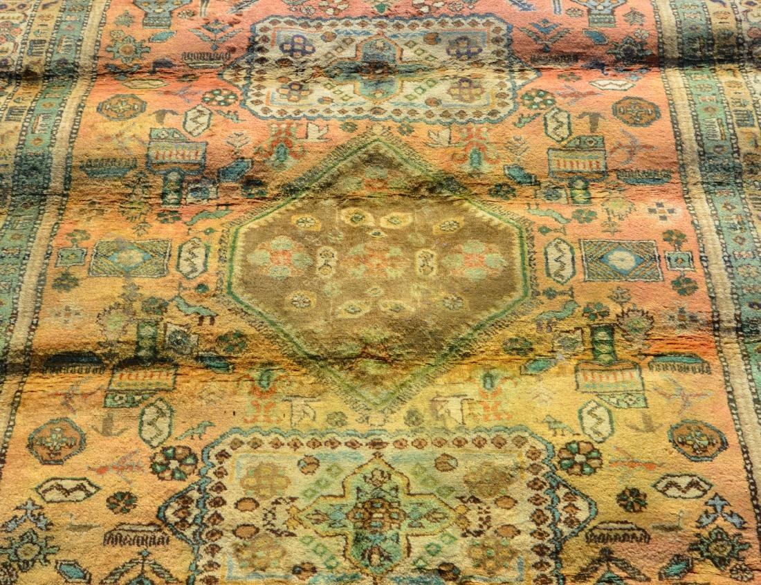 Antique/Vintage Geometric Pattern Oriental Area Rug. - 3