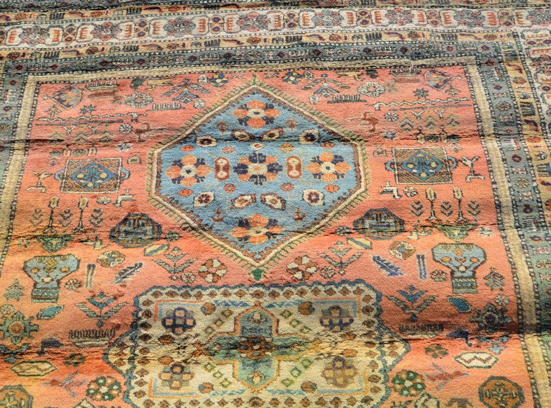 Antique/Vintage Geometric Pattern Oriental Area Rug. - 4