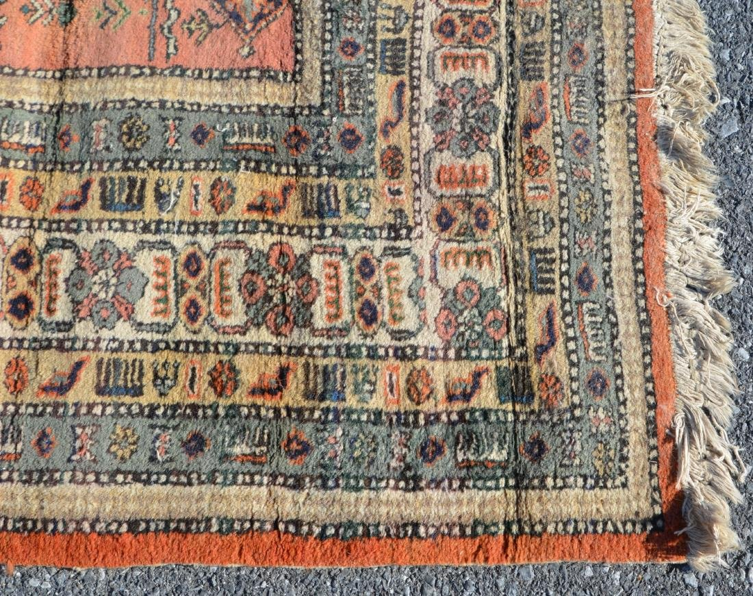 Antique/Vintage Geometric Pattern Oriental Area Rug. - 5