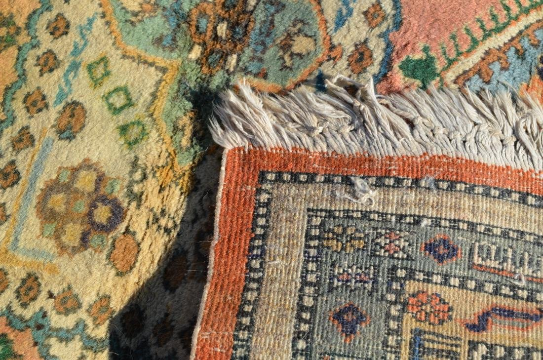 Antique/Vintage Geometric Pattern Oriental Area Rug. - 6
