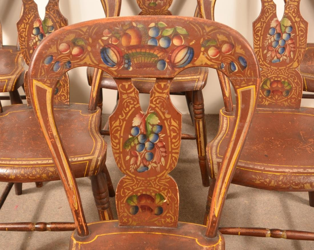 Set of Five Pennsylvania Balloon Back Side Chairs. - 2