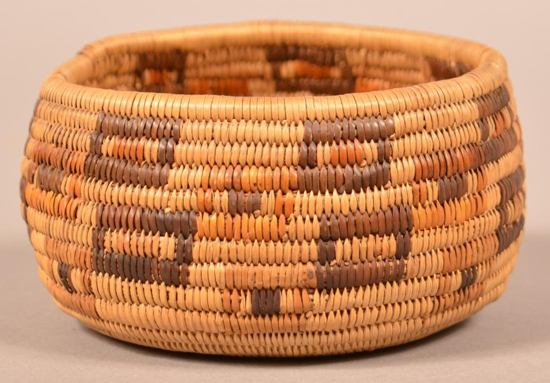 """California """"Mission Indian"""" Basketry Bowl 5"""" Dia."""