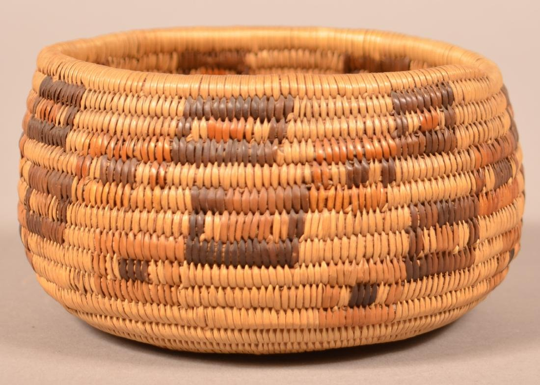 """California """"Mission Indian"""" Basketry Bowl 5"""" Dia. - 2"""