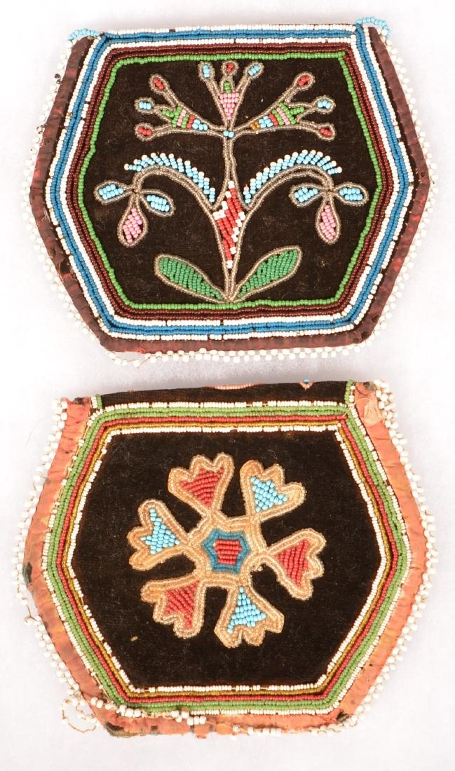 2 Mid 19th Cent. Iroquois Beaded Purses, One w/ Minor - 2