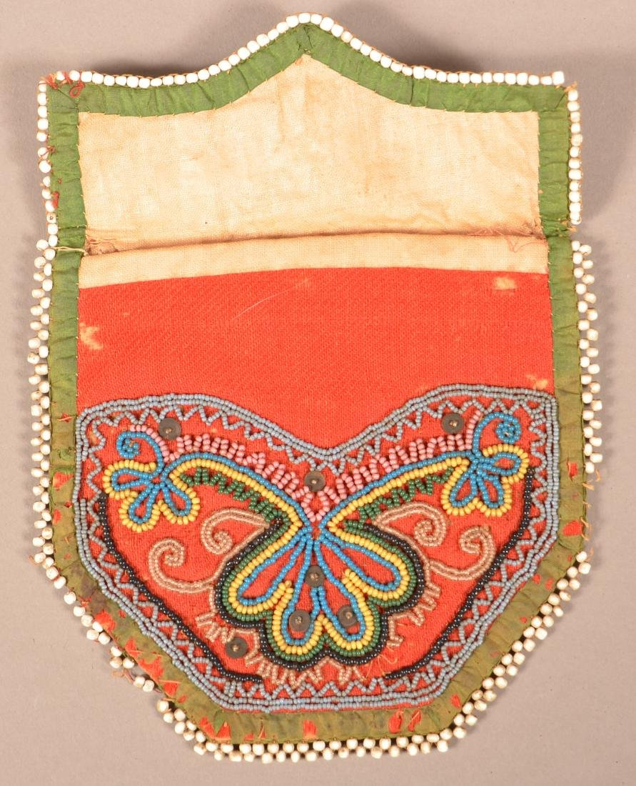 2 Good, Small Sized Iroquois Beaded Purse Mid 19th - 3