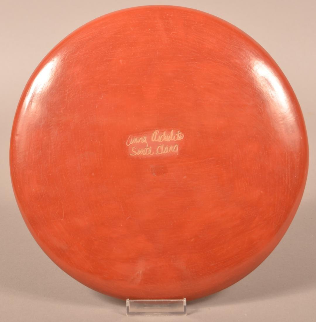 "10"" Dia. Santa Clara Pueblo Plate w/ Carved Feather - 2"