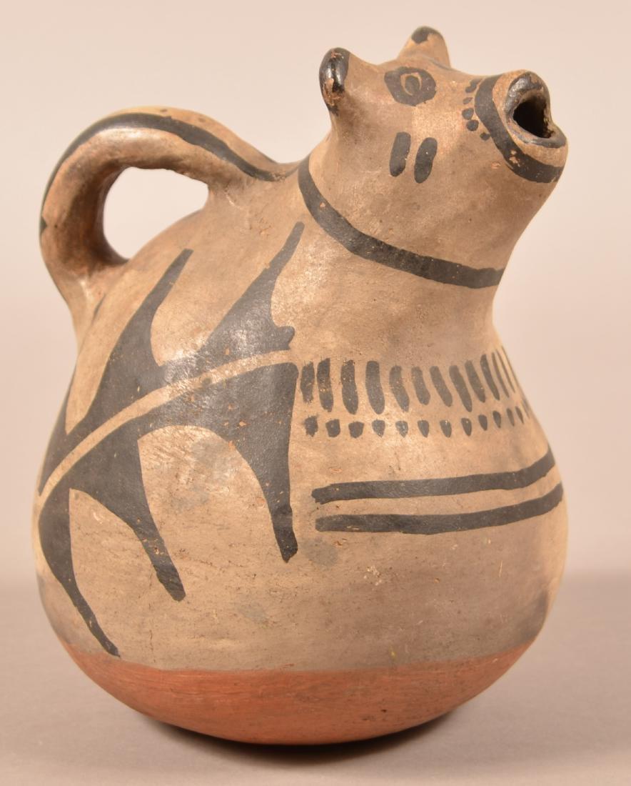 Antique Cochiti Effigy Water Pitcher w/ an Animal Head