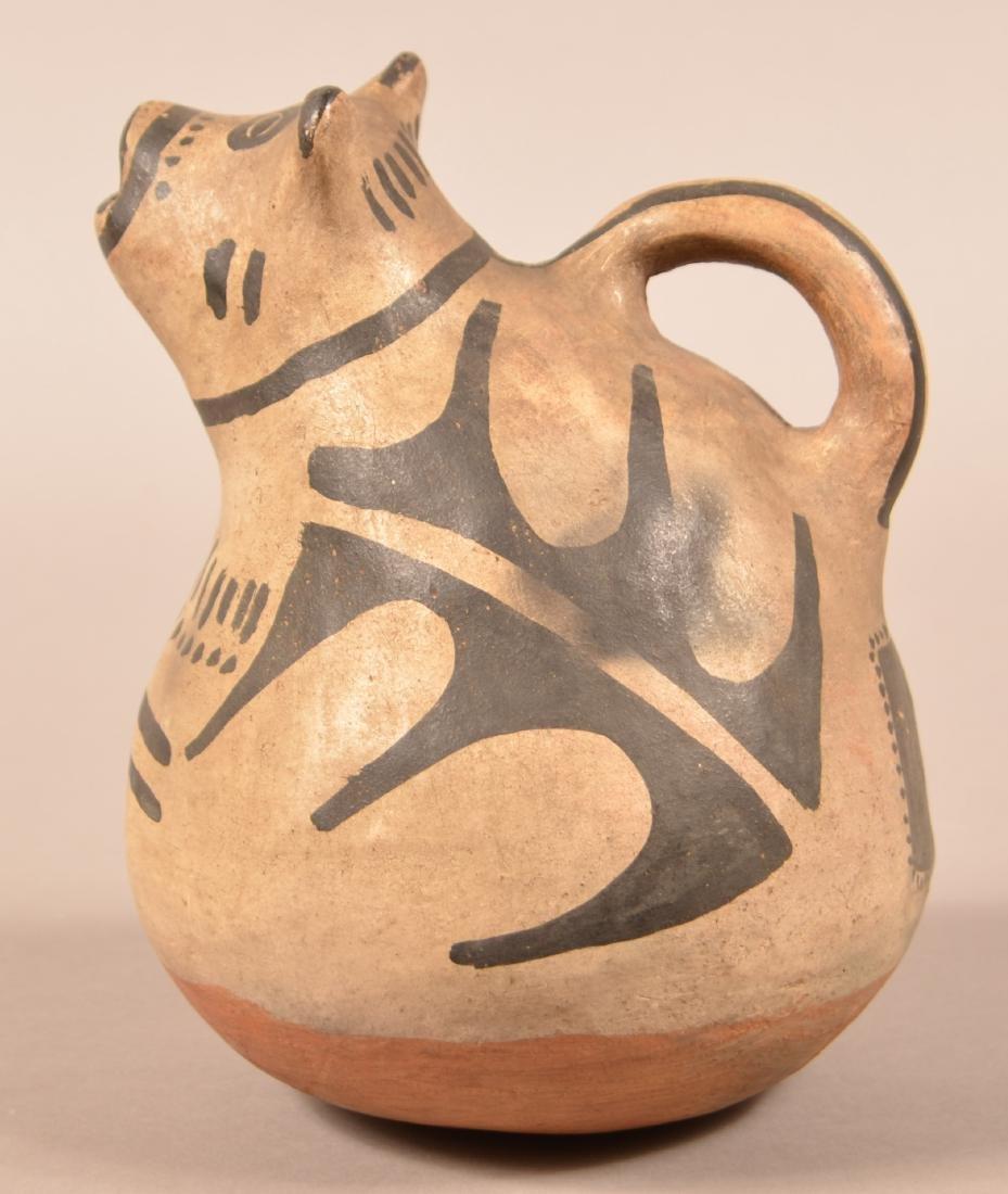Antique Cochiti Effigy Water Pitcher w/ an Animal Head - 2