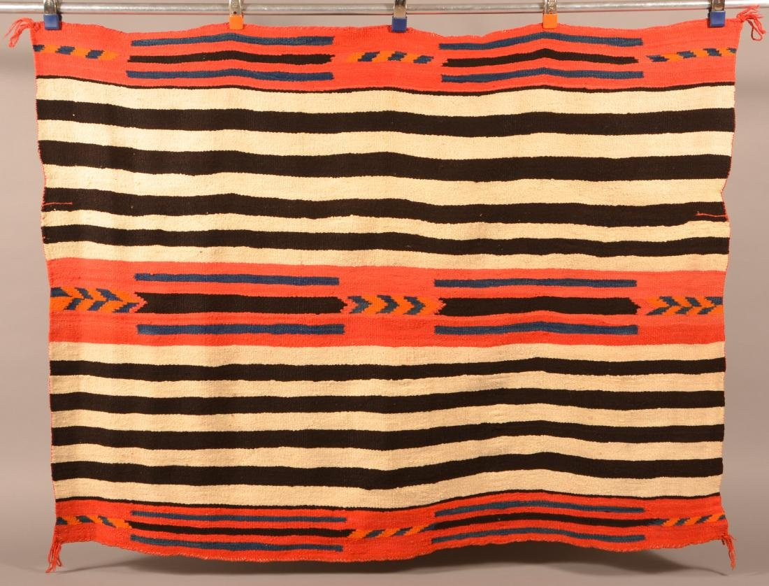 """Antique Navajo Indian Textile 58"""" x 44"""" """"2nd Phase"""""""