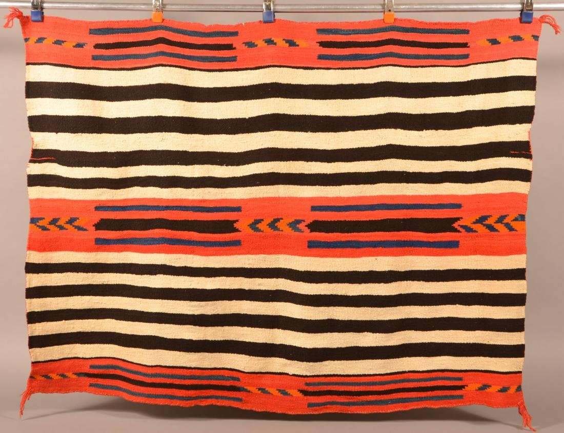 """Antique Navajo Indian Textile 58"""" x 44"""" """"2nd Phase"""" - 3"""