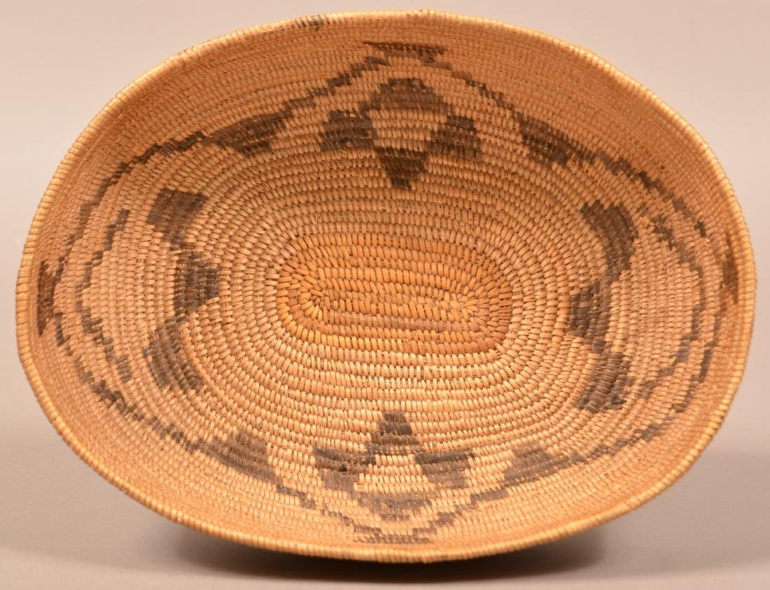 Antique Oval Shaped Basket, California Mission Type 10