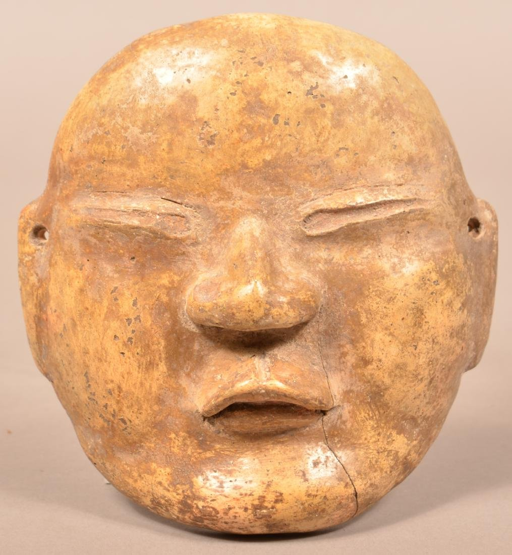 "Terra Cotta Face Mask 5 1/2"" x 6"" w/ a Patinated"