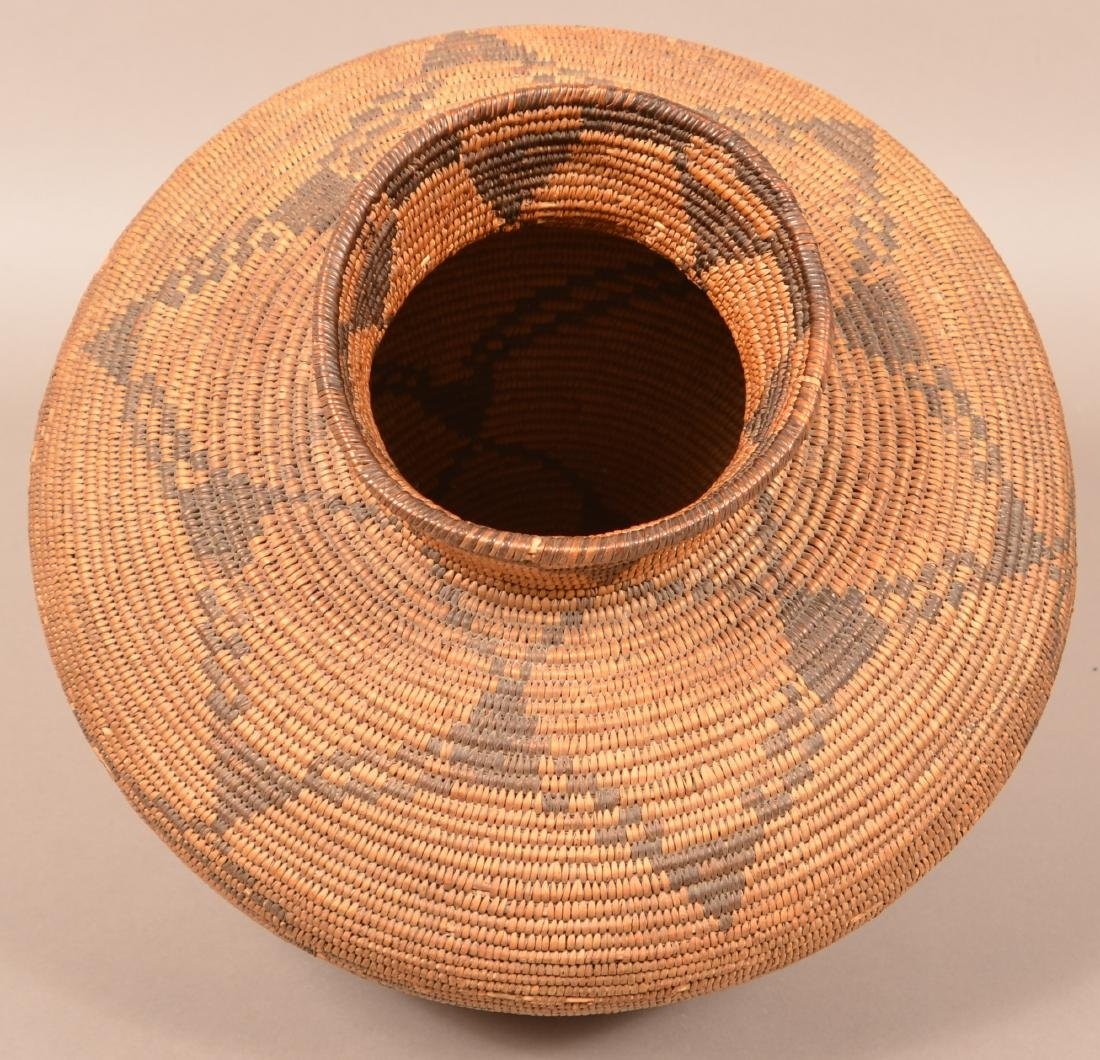 "Large Apache Coiled Basket of Split Willow and ""Devil's - 4"