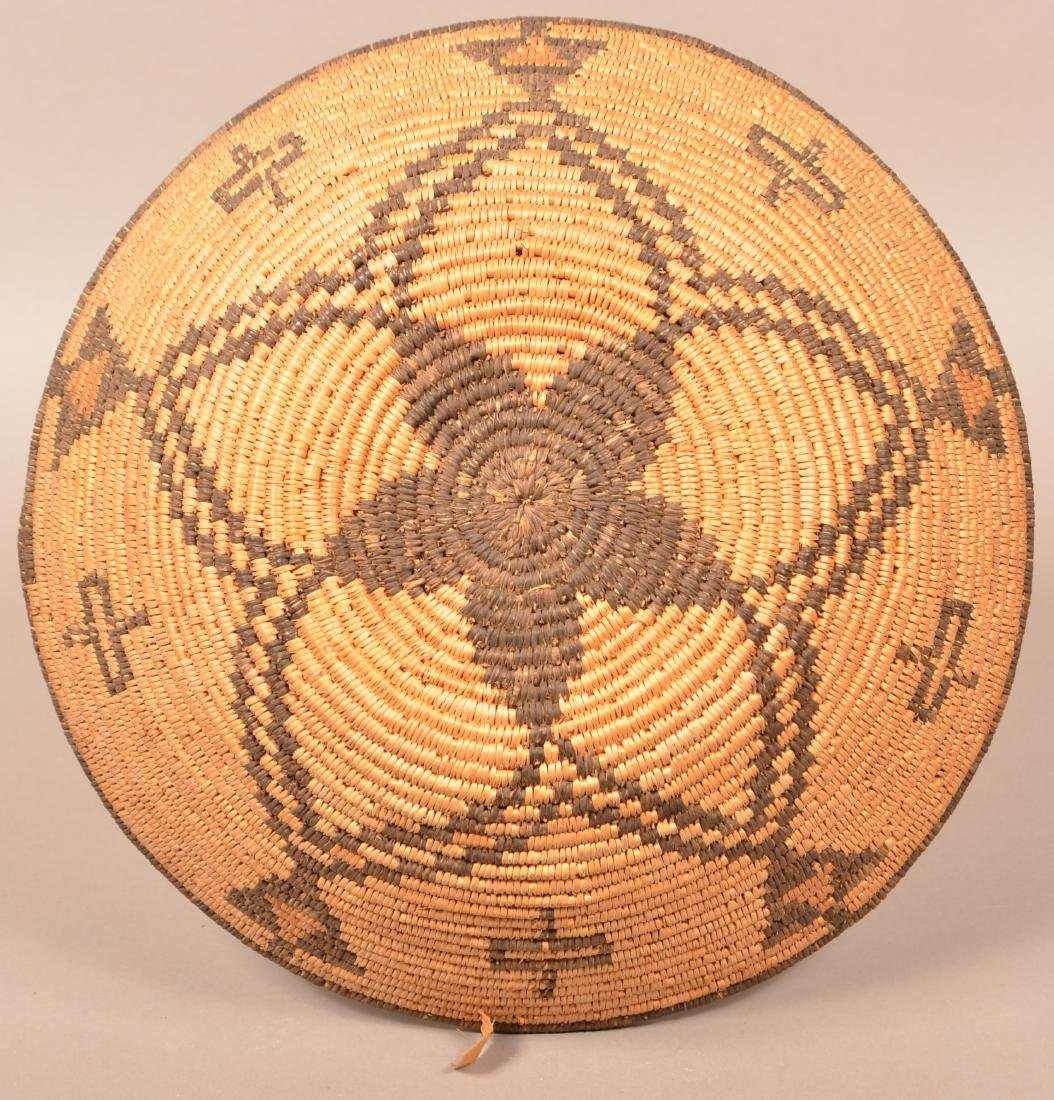 "Apache Coiled Basket, 14 1/2"" Dia. w/ a Radiating Star - 2"