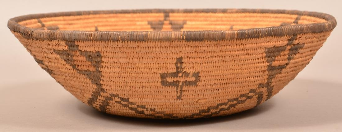 "Apache Coiled Basket, 14 1/2"" Dia. w/ a Radiating Star - 3"