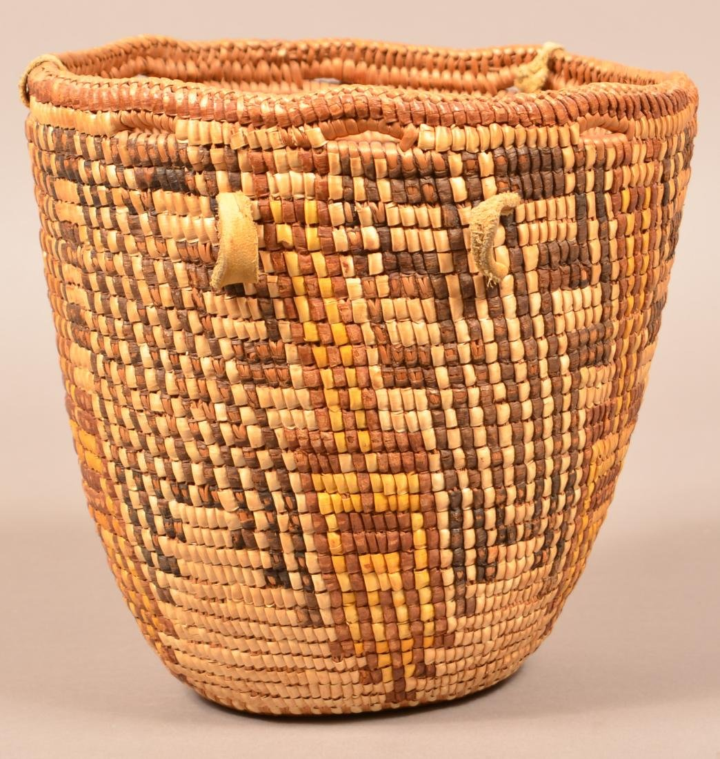 Antique Columbia River Region Coiled Basket w/