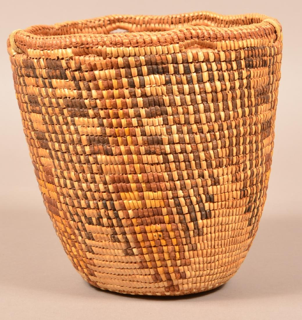 Antique Columbia River Region Coiled Basket w/ - 2